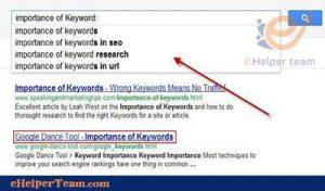 keyword on Google dance