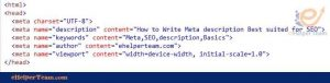 Meta description HTML