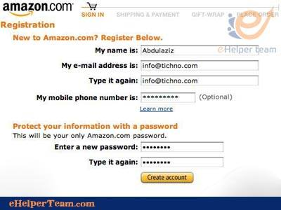type your full name and enter your password