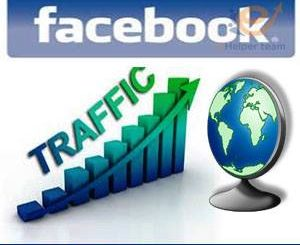 website traffic from Facebook page