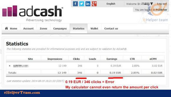 Adcash Company as Google Adsense Alternative