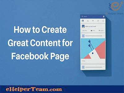 create a content Facebook Page