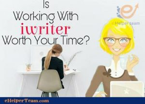 iWriter website to earn money writing
