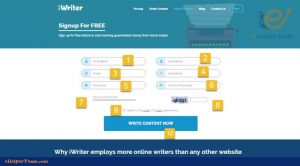 register in iWriter to earn