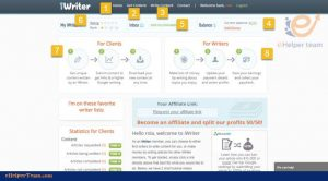 get a job via the iwriter website