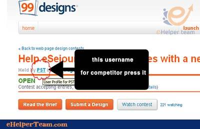 username for competitor