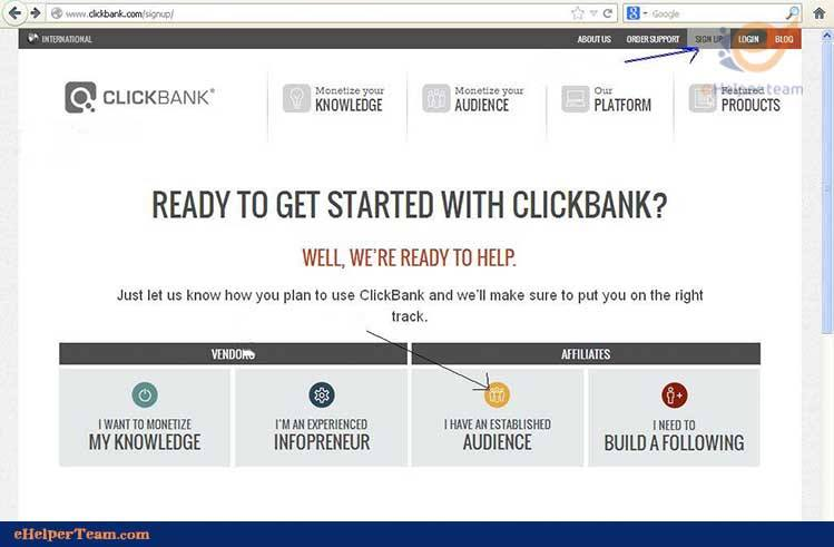 get start with clickbank