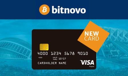 Photo of E-bank Bitnovo platform Convert Bitcoin currency to Visa Cards