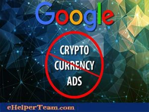 Cryptocurrency advertisements ban