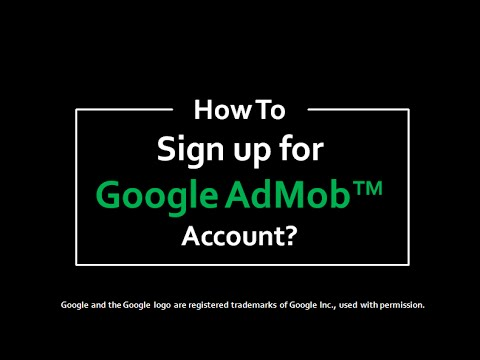 AdMob account sign up