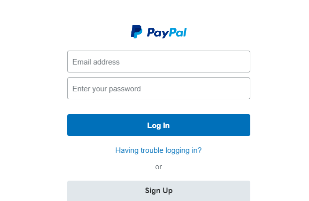 PayPal sign up