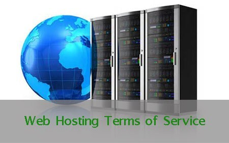 Web hosting terms of service