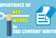 Keywords in SEO content