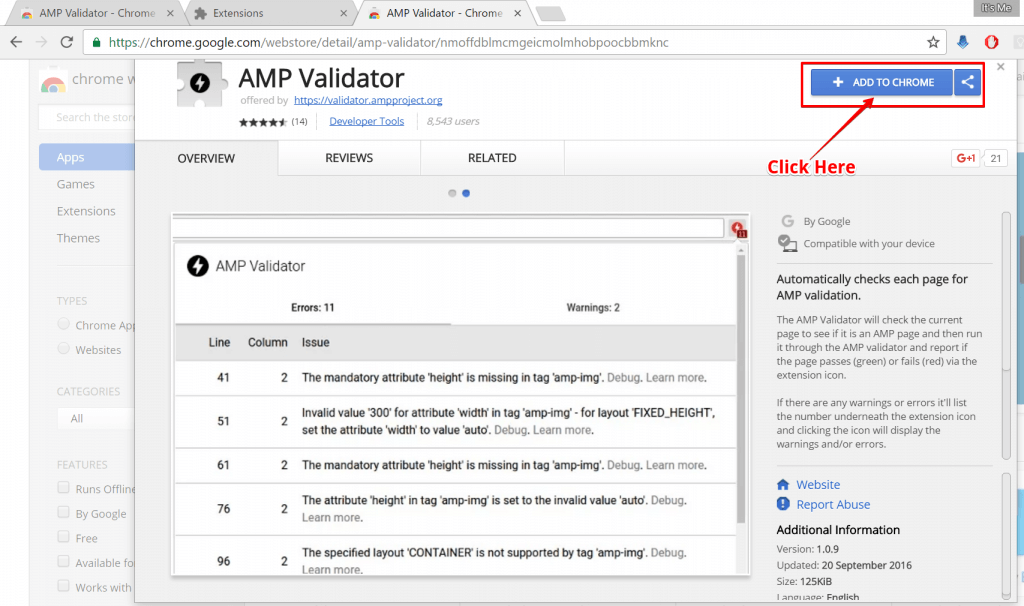 AMP Chrome Extension