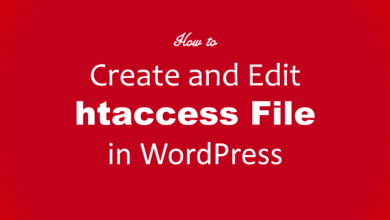Create htaccess file Wordpress