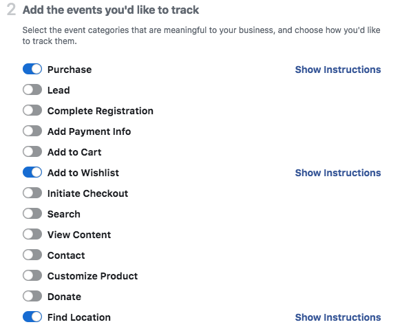 Track the right business activities