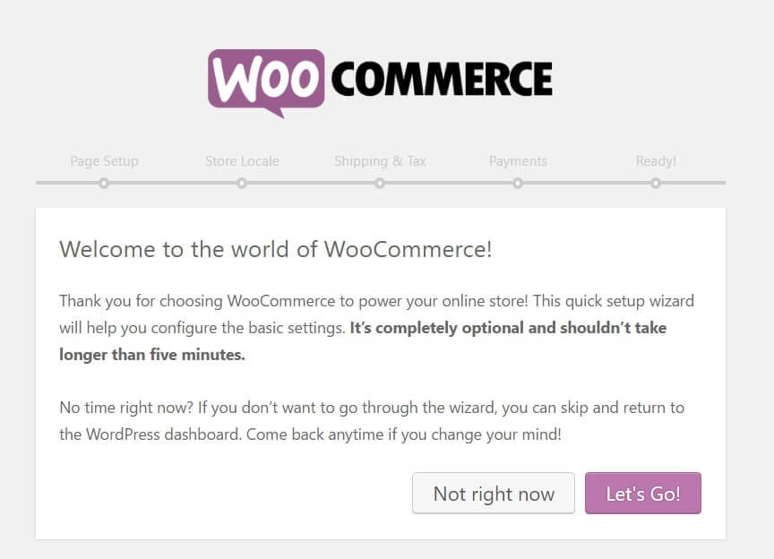 Let's Go to start with WooCommerce