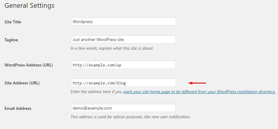 Switch the Site Address
