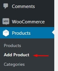 Prducts: WordPress Woocommerce