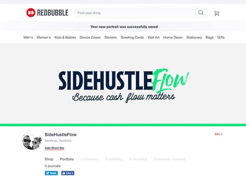 Redbubble site