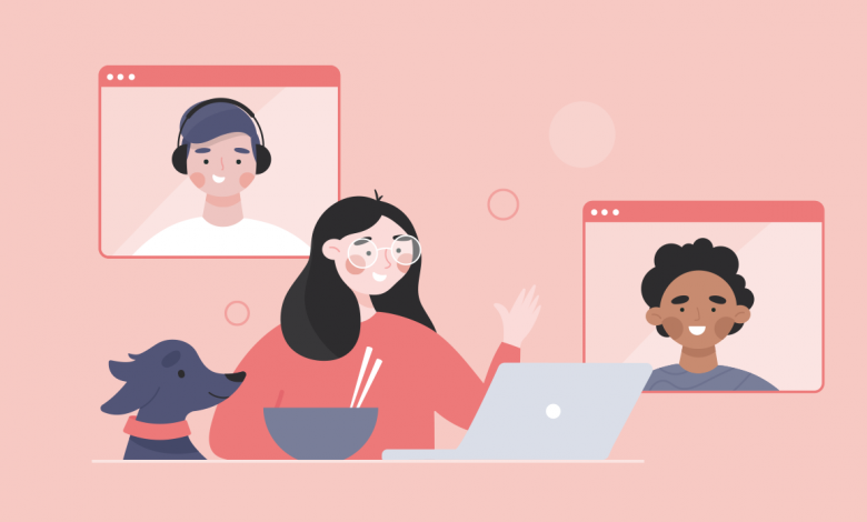 Team Connected When Working Remotely